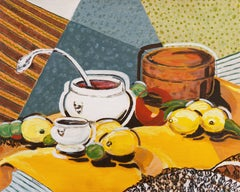 'Still Life in Yellow and Blue', California Modernist