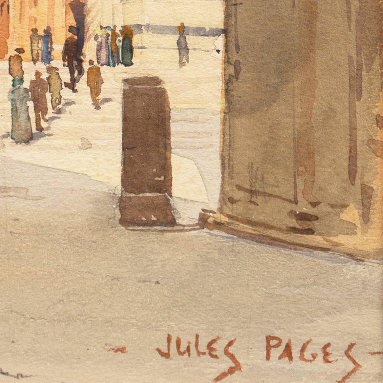 Piazza del Duomo, Siena   (California, Italy, Cathedral, architectural study) - Art by Jules Pages
