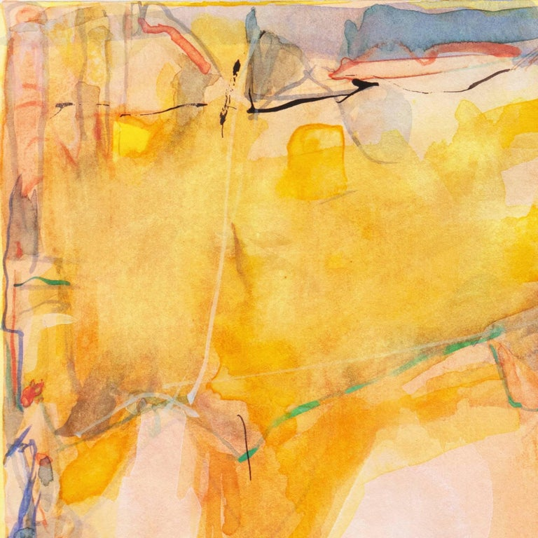 Abstract in Rose and Saffron   (Contemporary, American, Gold) For Sale 4