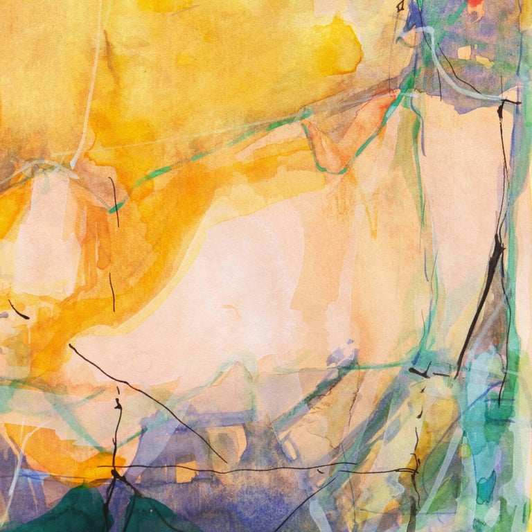 Abstract in Rose and Saffron   (Contemporary, American, Gold) For Sale 6