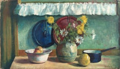 'Yellow & White Daisies', Danish Post-Impressionist, Paris Salon, Benezit