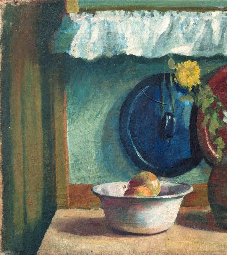 'Yellow & White Daisies', Danish Post-Impressionist, Paris Salon, Benezit - Gray Still-Life Painting by Mogens Erik Christien Vantore