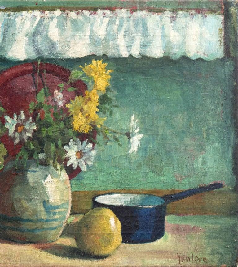 'Yellow & White Daisies', Danish Post-Impressionist, Paris Salon, Benezit For Sale 1