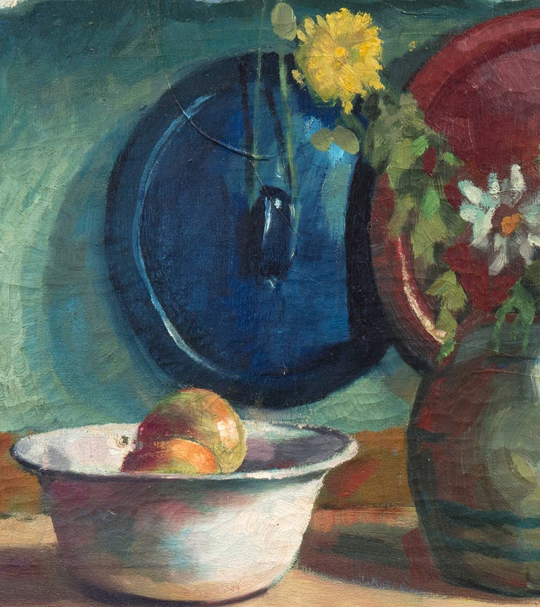 'Yellow & White Daisies', Danish Post-Impressionist, Paris Salon, Benezit For Sale 2