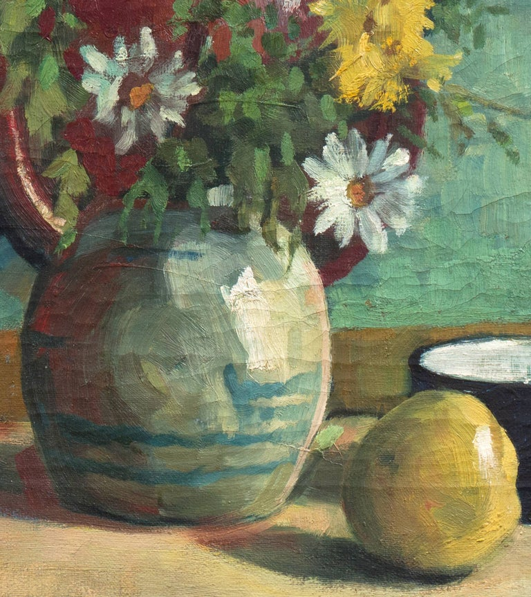 'Yellow & White Daisies', Danish Post-Impressionist, Paris Salon, Benezit For Sale 3