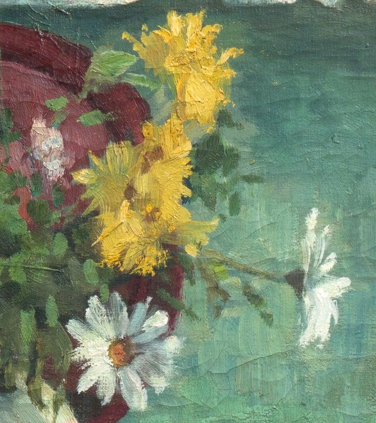 'Yellow & White Daisies', Danish Post-Impressionist, Paris Salon, Benezit For Sale 4