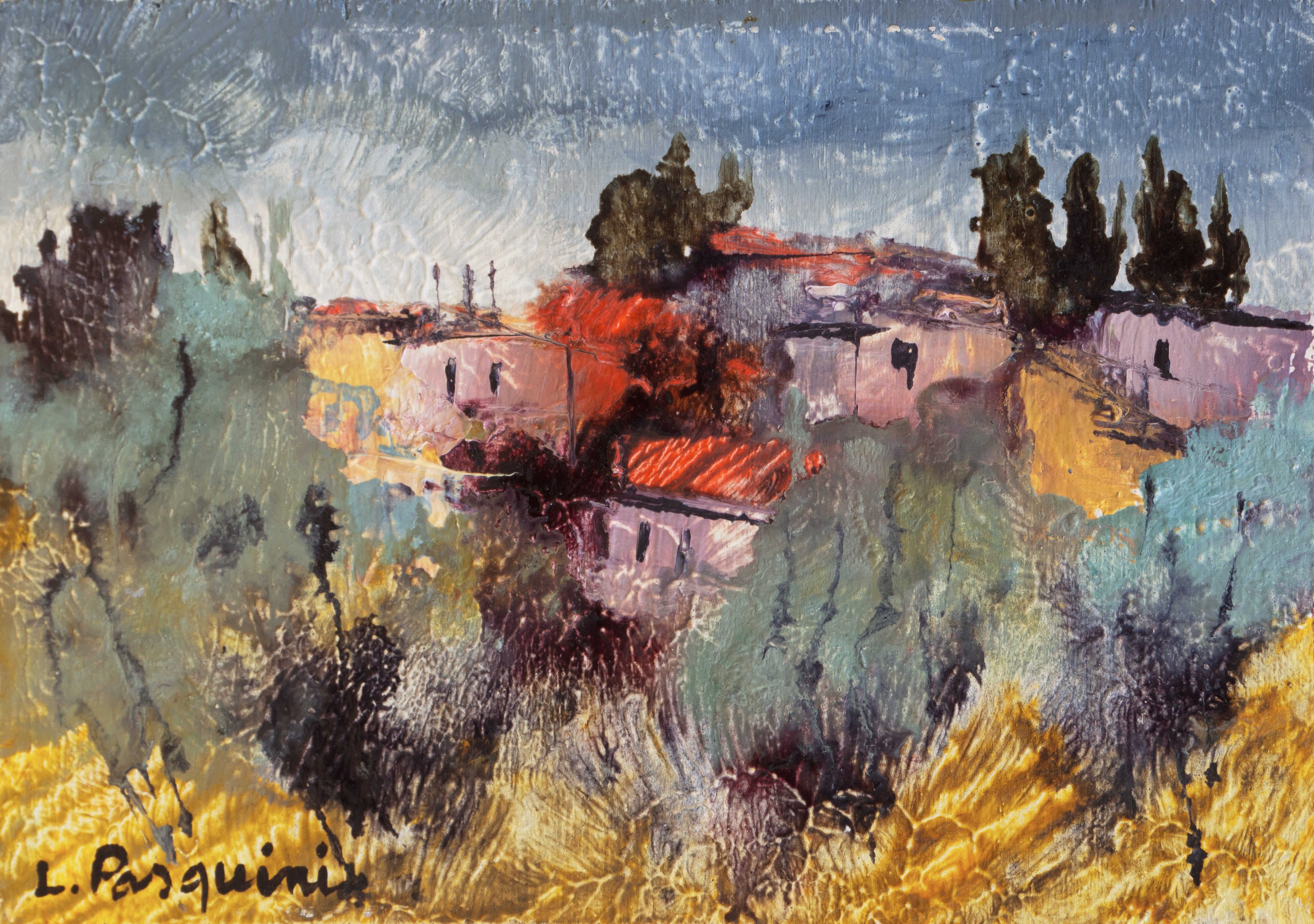8732d4acdc1 Luciano Pasquini. Tuscan Landscape (Italy ...