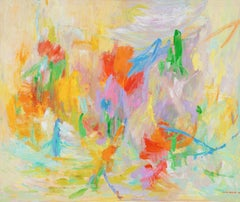 Action Abstract (Abstract Expressionism, Red, Blue, Green, Yellow)