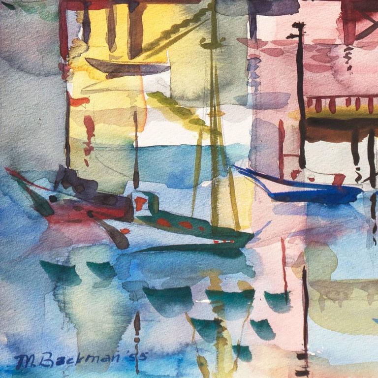 'Monterey Pier', California Modernist, Woman Artist, Santa Cruz Art League For Sale 1