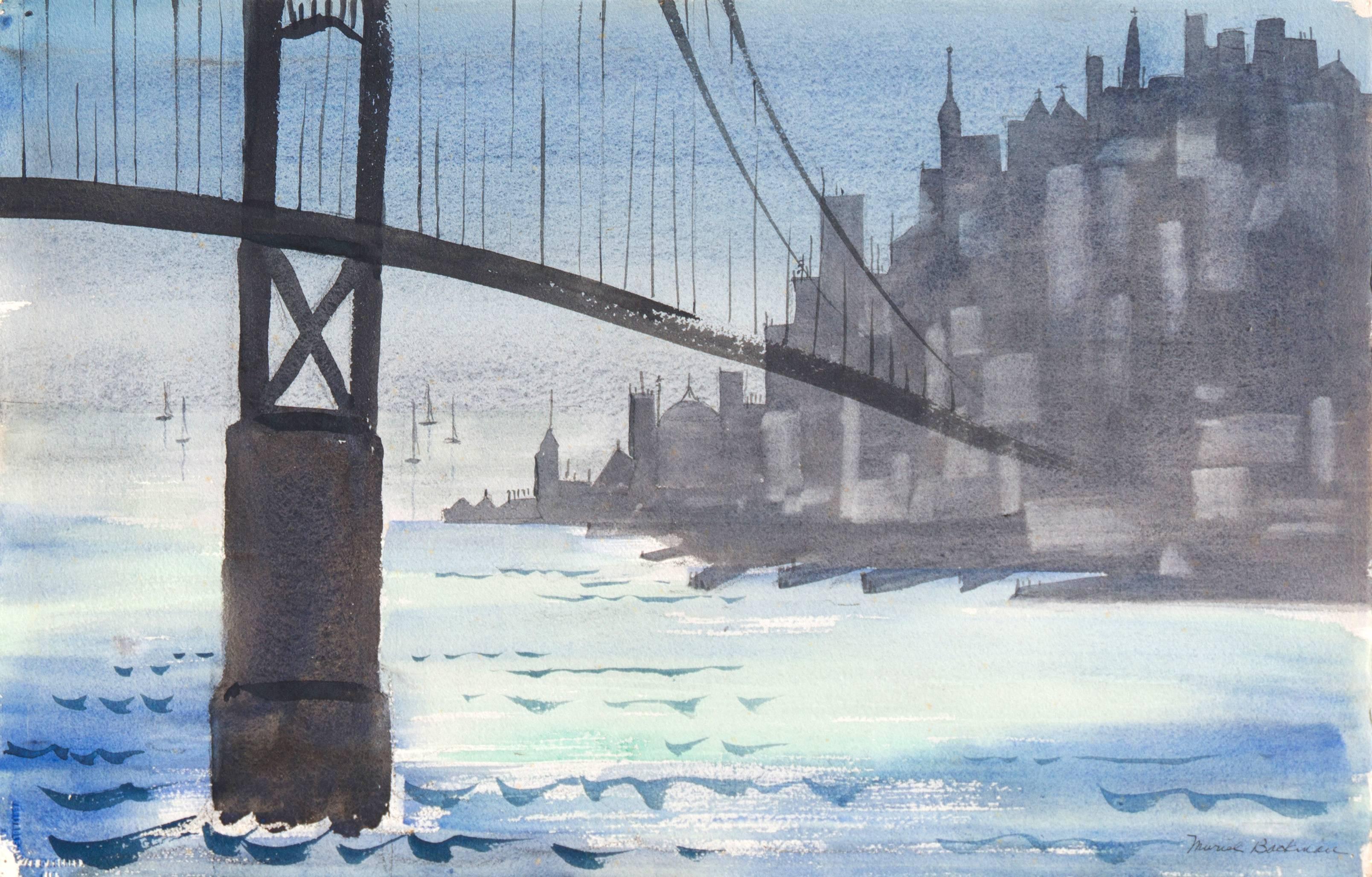 'Golden Gate, San Francisco', Bay Area Woman Modernist, Crocker Art Museum