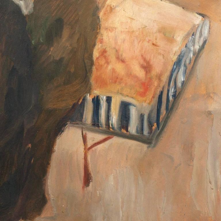 'The Old Barrel-Organ Grinder', Charlottenborg, Danish Post-Impressionist Oil For Sale 1