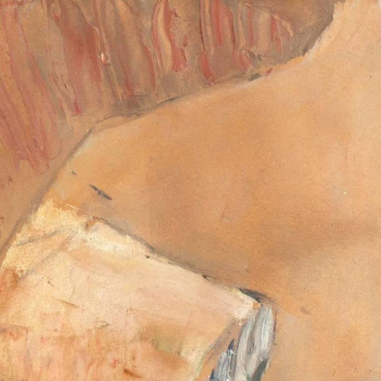 'The Old Barrel-Organ Grinder', Charlottenborg, Danish Post-Impressionist Oil For Sale 2