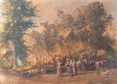 'Return from the Meadows', London Royal Academy, RBA, Hibernian, Dublin, Benezit