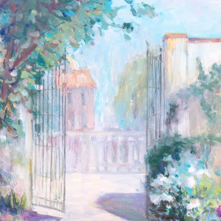 'Private Garden', Large American Impressionist oil, Hawaii, Australia, Seattle For Sale 1