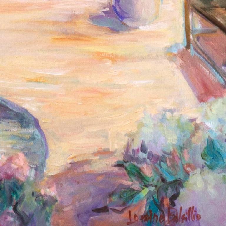 'Private Garden', Large American Impressionist oil, Hawaii, Australia, Seattle For Sale 2