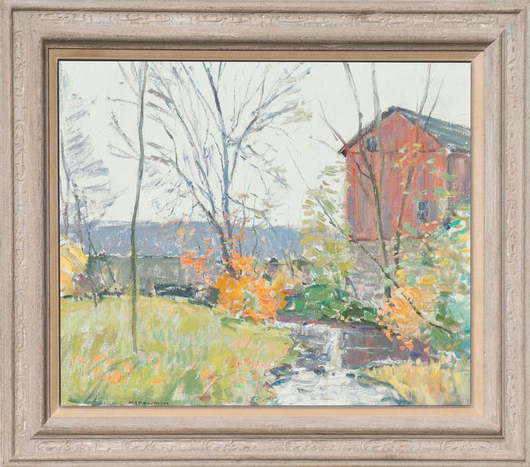 'Rochester, New York', American Impressionist, National Academy of Design - Painting by Milton W Holm