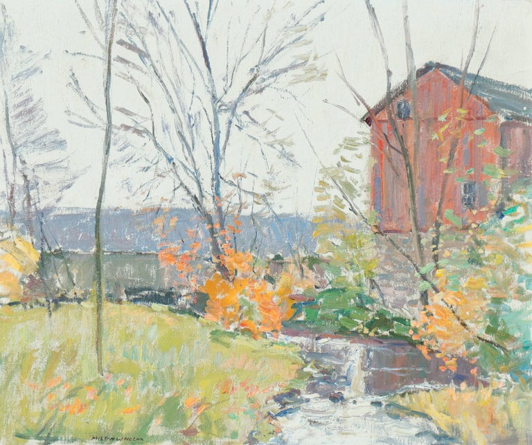 Milton W Holm Landscape Painting - 'Rochester, New York', American Impressionist, National Academy of Design