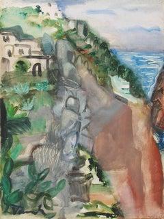 Post-Impressionist Landscape, View of the Côte d'Azur, France