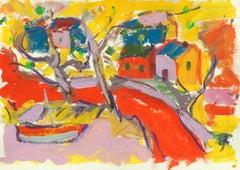 'Monterey Cove', California Expressionist, Carmel, Stanford