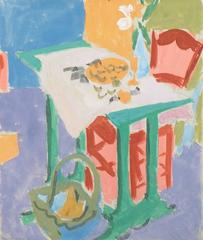 Still Life with a Red Chair