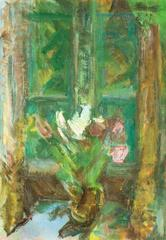 Still Life of Tulips by a Window