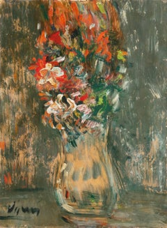 French Expressionist oil, 'Still Life of Spring Flowers', Pompidou Center, Paris