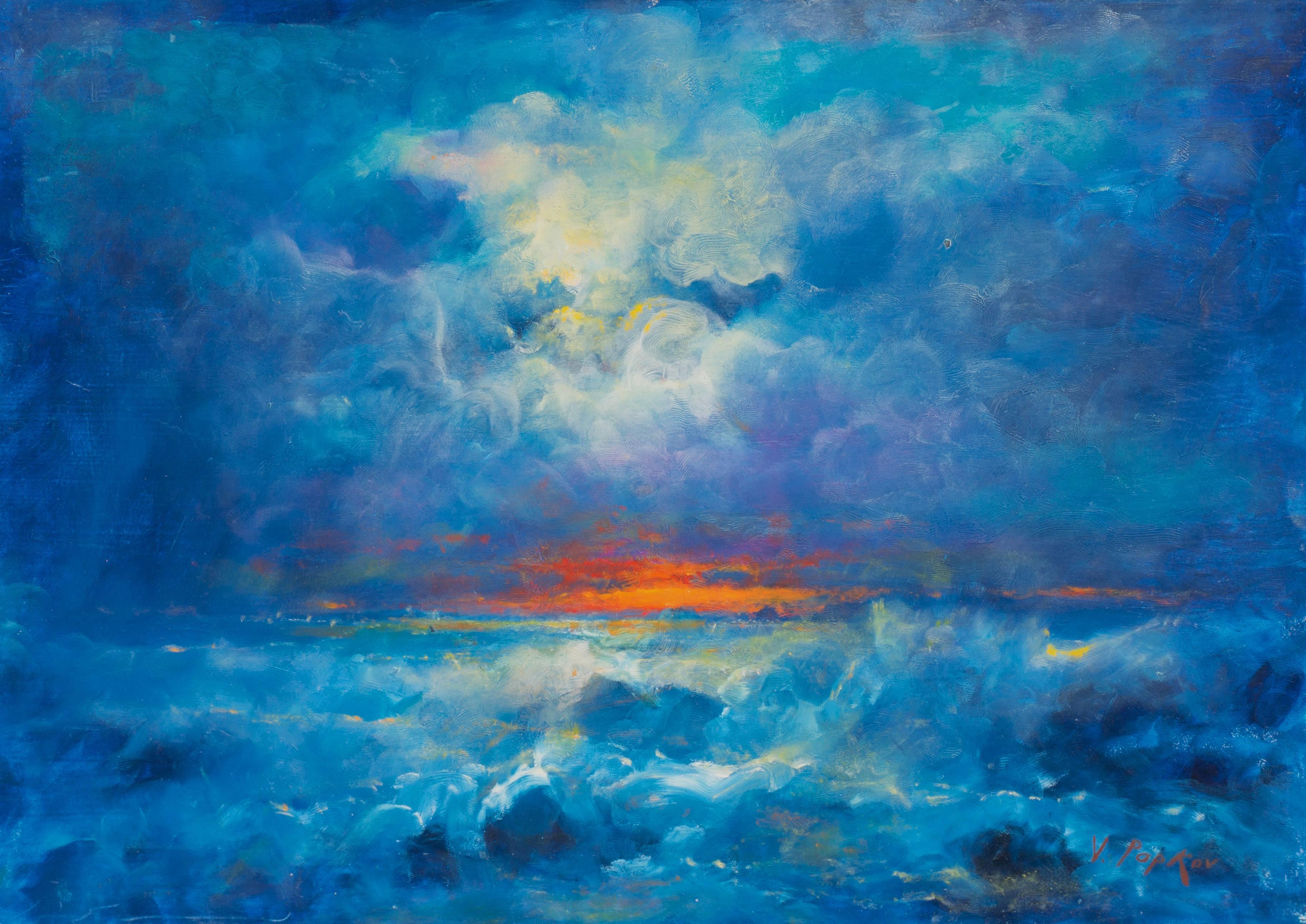 'San Francisco Sunset', Russian American, Bay Area artist