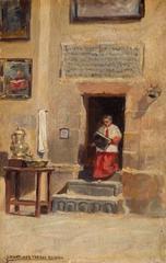 Altar Boy in Church Interior