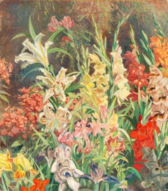 'Artist's Garden with Lupins, Irises, Gladioli and Lilies', Munich, AIC, PAFA