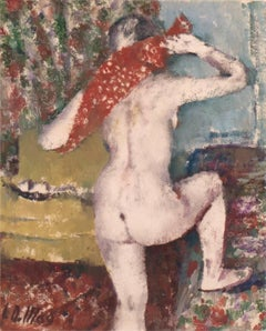 'The Red Hand-Towel', German Impressionist