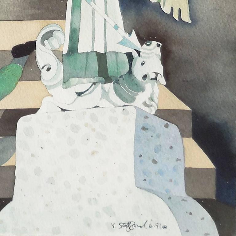 'Minotaur Descending', California woman artist, For Sale 2