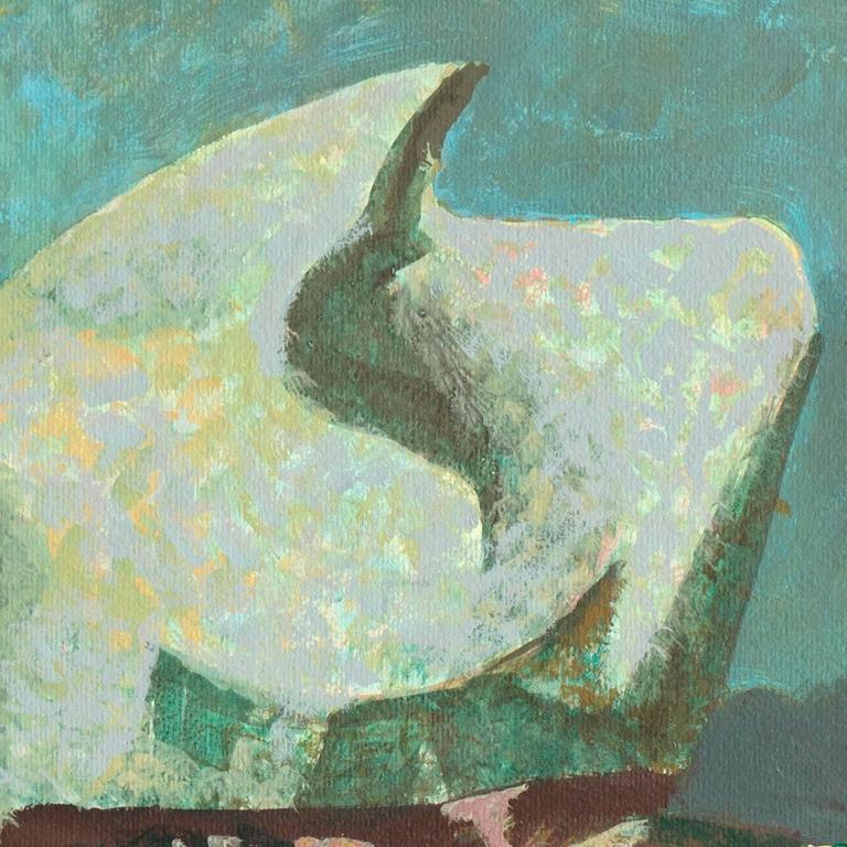 Millard Sheets Shell Rock Mendocino Coast Painting At