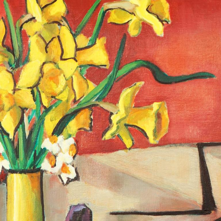 Still Life of Daffodils  - Painting by Virginia Sevier Rogers