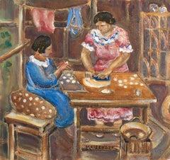 'Making Empanadas', California Watercolor Society, San Diego Museum of Art