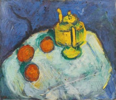 Early Twentieth-century Danish Post-Impressionist Still Life of a Teapot