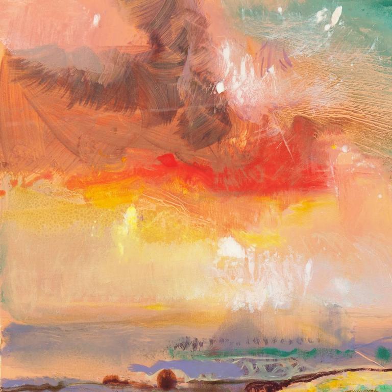 'Monterey at Sunset', California Post-Impressionist Landscape - Print by John Maxon