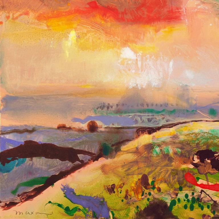 'Monterey at Sunset', California Post-Impressionist Landscape For Sale 1