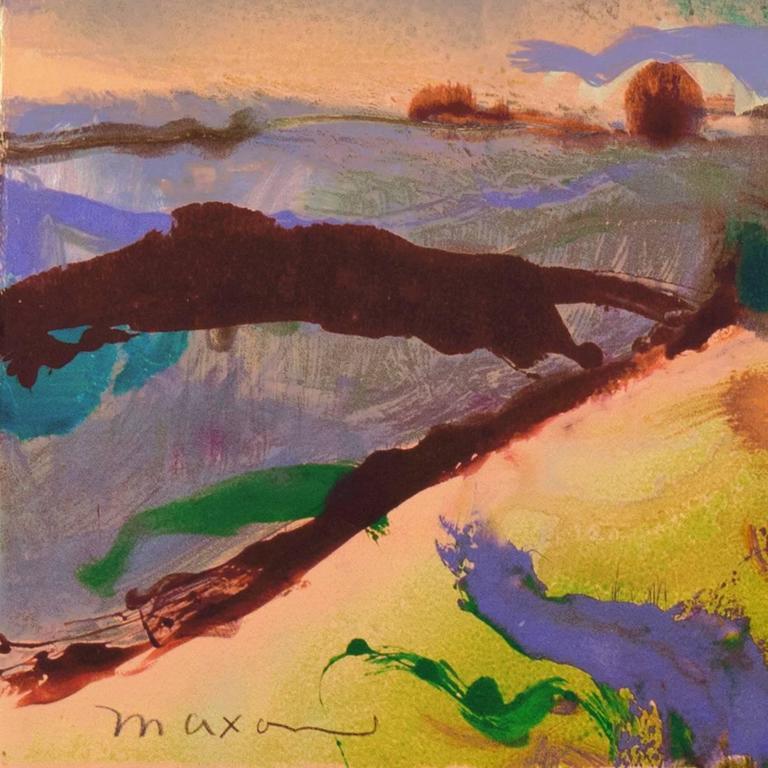 'Monterey at Sunset', California Post-Impressionist Landscape For Sale 2