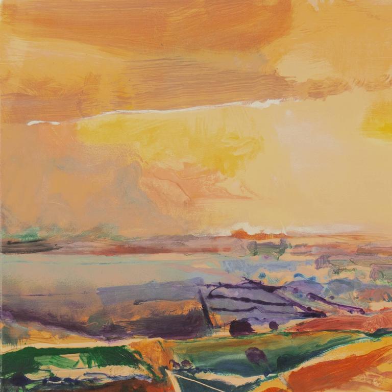 'Monterey at Sunset', California Post-Impressionist Landscape, San Jose  - Print by John Maxon
