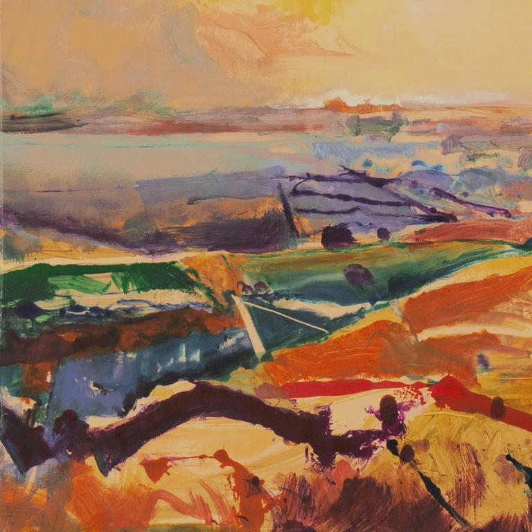'Monterey at Sunset', California Post-Impressionist Landscape, San Jose  For Sale 1