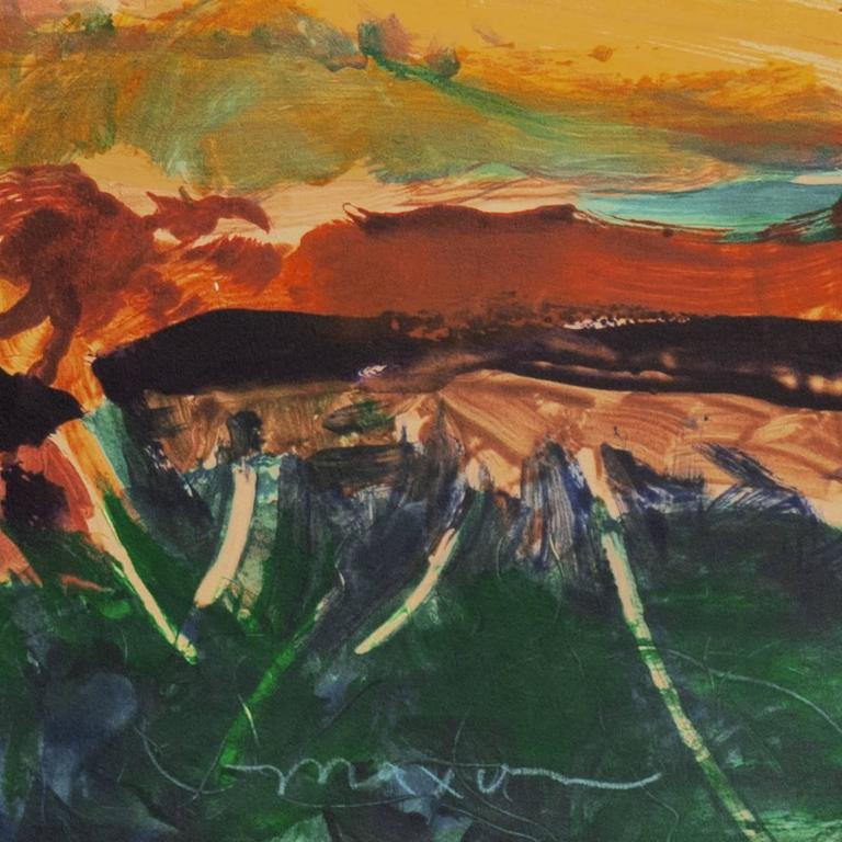'Monterey at Sunset', California Post-Impressionist Landscape, San Jose  For Sale 2
