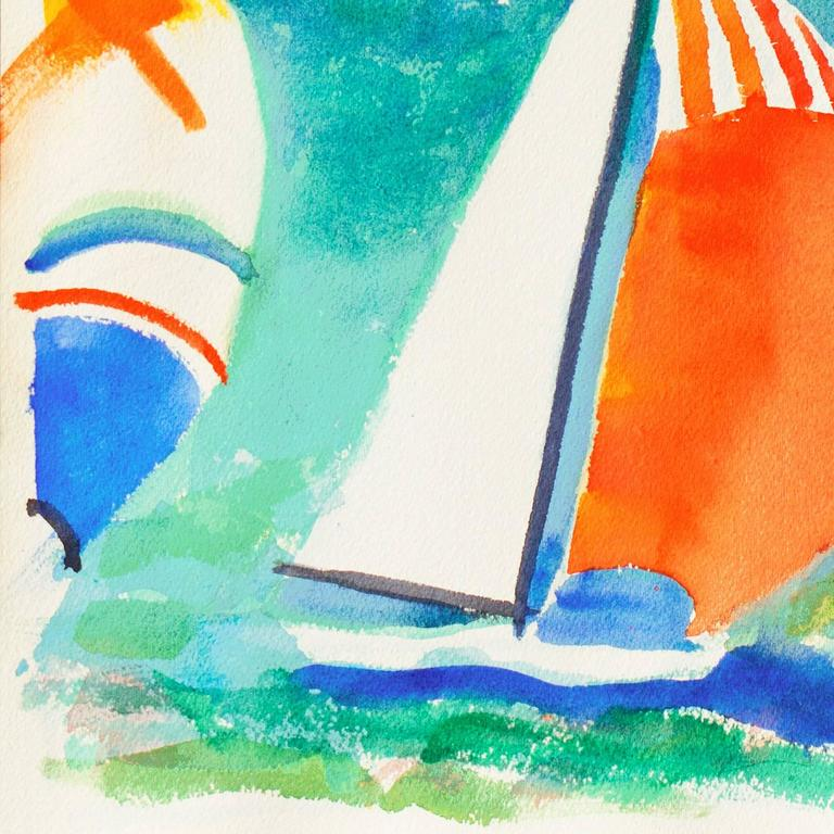 'Spinnakers at Sunset', California Watercolor Association, Pacific Grove Artist For Sale 2