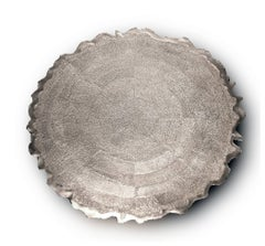 Silver 'Corona' Decorative Plate by Alexandra Agudelo