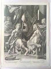 Hercules, spinning (on the left) and Omphale