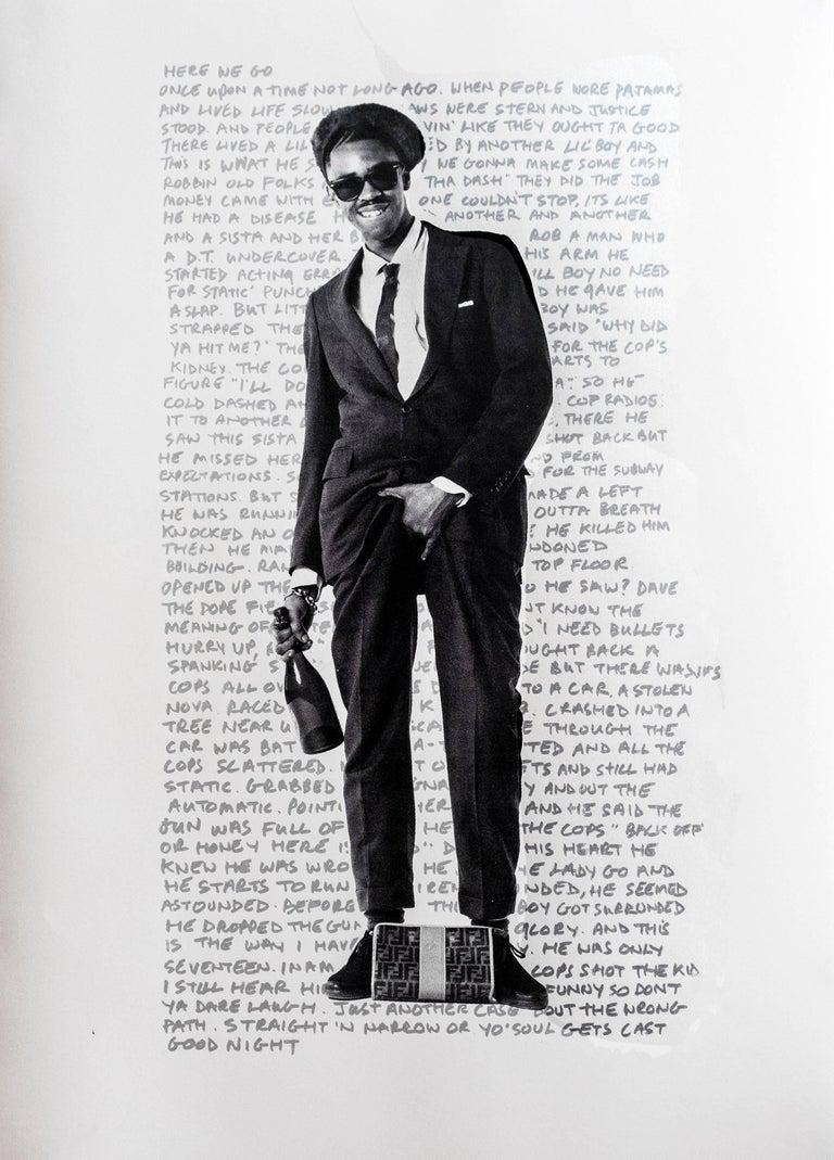Janette Beckman Portrait Print - Slick Rick White