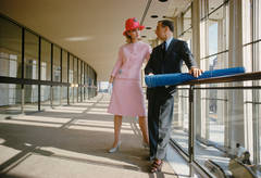 Model with Lincoln Center Architect, 1962