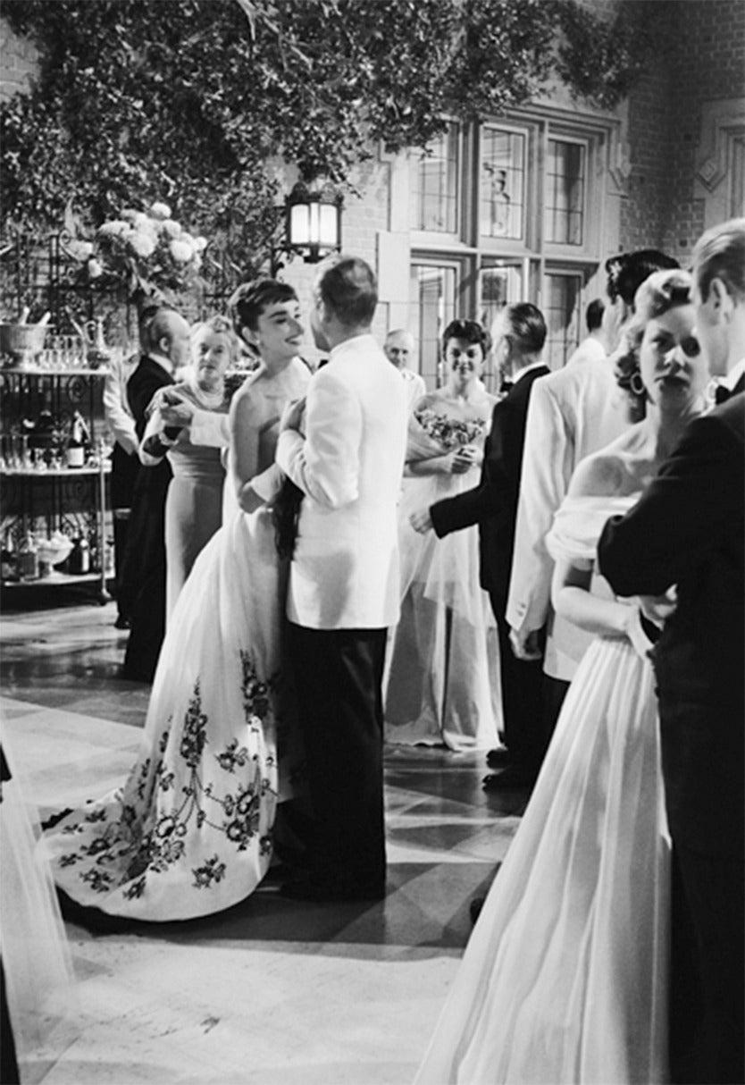 Mark Shaw - Audrey Hepburn in Givenchy Gown During the Larrabee Ball ...