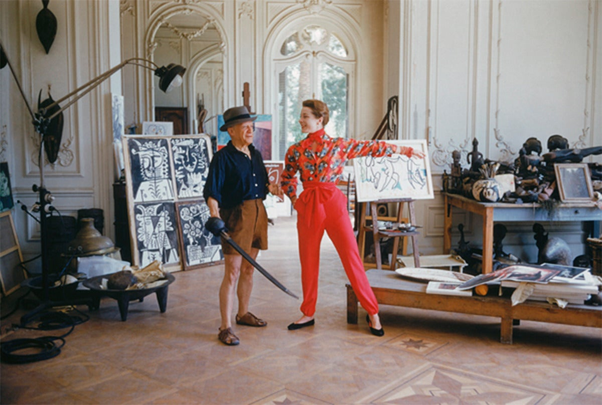 Picasso with Bettina Graziani and Sword