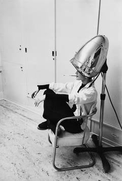 Audrey Hepburn Under a Hair Dryer, 1953