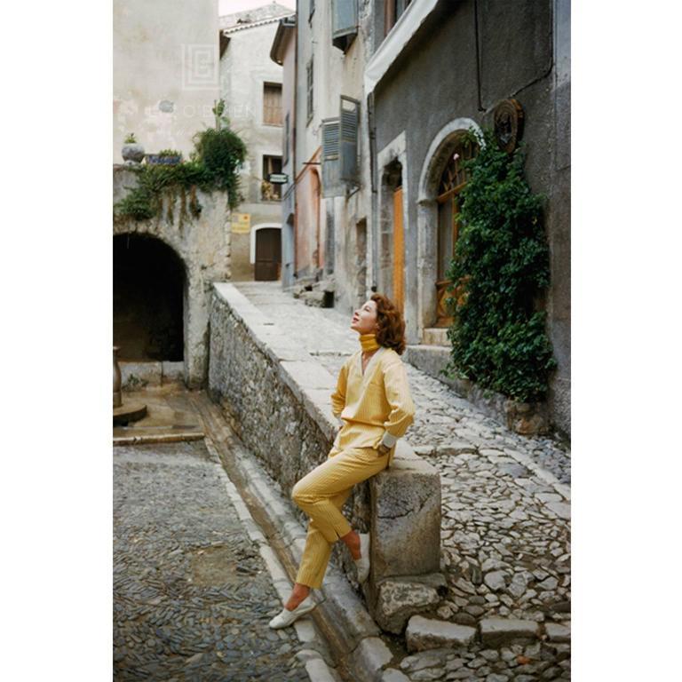 St. Tropez Model in Yellow Ensemble, 1956